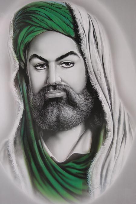 عکس شمایل حضرت عباس
